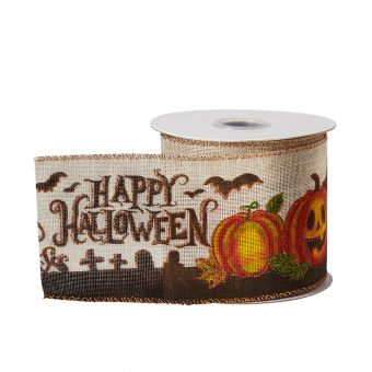 Happy Halloween Wired Ribbon