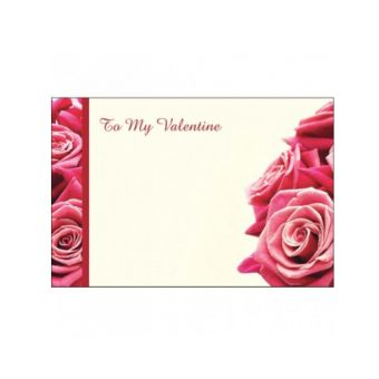 Valentines Day Red Roses with a Side Border