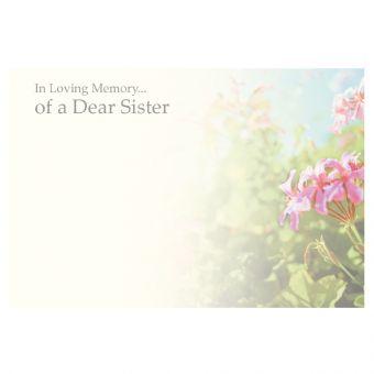 In Loving Memory of a Dear Sister