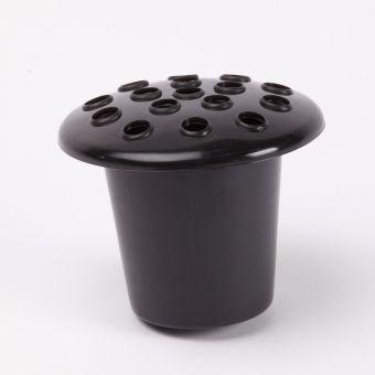 Grave Vase Black Container