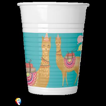 Llama Plastic Cups