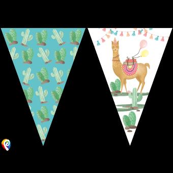 Llama Party Flag Bunting