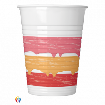 Birthday Cake Plastic Cups