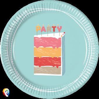 Birthday Cake paper plates