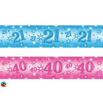 Blue Foil 60 Banner