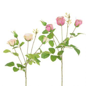 Artificial English Cabbage Rose Spray Mauve