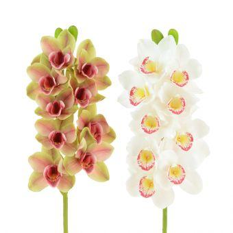 Artificial Cymbidium Orchid Green Pink