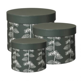 Noble Cone Lined Hat Box (Set of 3)