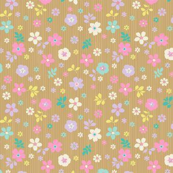 Scattered Floral Kraft Paper Roll