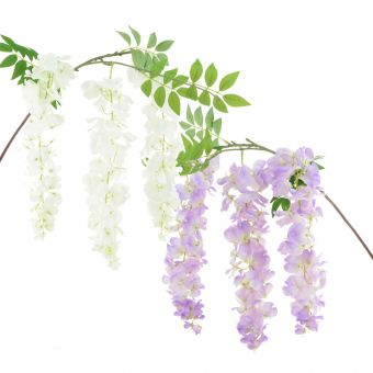 Artificial Wisteria Spray Lilac