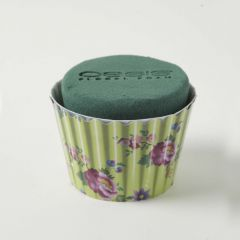 OASIS® Ideal Floral Foam Maxlife Cupcakes - Mint Floral - 8cm (Pack of 6)