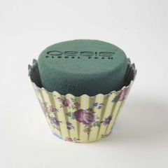 OASIS® Ideal Floral Foam Maxlife Cupcakes - Ivory Floral - 12cm (Pack of 6)