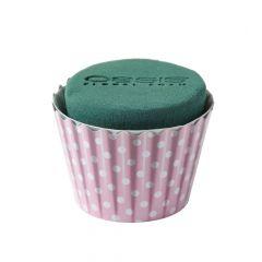 OASIS® Ideal Floral Foam Maxlife Cupcakes - Pink Dot - 8cm (2 Pack)