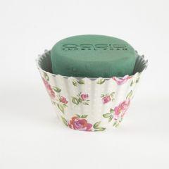 OASIS® Ideal Floral Foam Maxlife Cupcakes - Cream Rose - 12cm (Pack of 6)