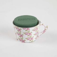 OASIS® Ideal Floral Foam Maxlife Tea Cups - Pink Rose - 8cm (Pack of 6)