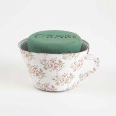 OASIS® Ideal Floral Foam Maxlife Tea Cups - Pink Bouquet - 12cm (Pack of 6)