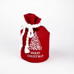 Hessian Santas Sack - Merry Christmas