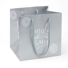 Porto Bag - Jingle All The Way - Silver/Grey - 18x20cm (Pack of 10)