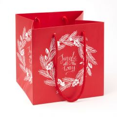 Pack of 10 Porto Bags - Wreath - Jingle All The Way