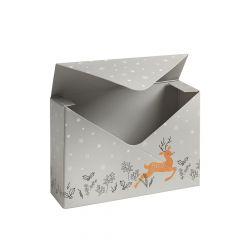 Prancing Reindeer Envelope Box (Lined) - Pack of 10
