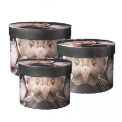 Peony Lined Hat Box (Set of 3)