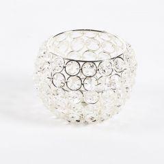 Crystal Bowl - Silver - 11cm x 11cm x 11cm