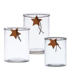 Starry Night Hurricane Vase