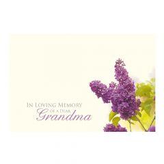 In Loving Memory of a Dear Grandma Lilac