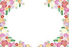 Mini Floral Circle Classic Plain Card