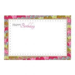 Happy Birthday - Multi-Coloured Rose Border