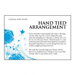 Designer Care Card - Hand Tied Bouquet