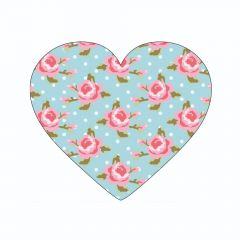 Pink Roses and pale Blue Dots
