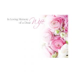 ILM Dear Wife, Pink & White Ranunculus  - Folded
