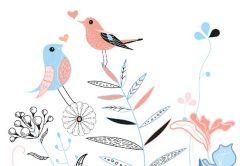 Sweetheart Robins Folded Plain Card