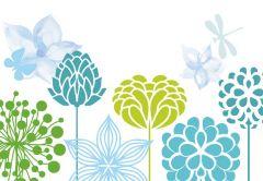 Modern Floral Folded Plain Card