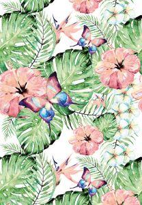 Antique Tropical Folded Plain Card
