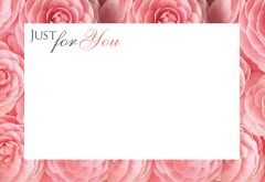 Just for You - Dahlia Border Classic Worded Card
