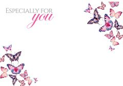 Especially for You - Butterflies Classic Worded Card