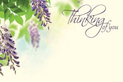 Thinking of You - Hanging Flowers Classic Worded Card