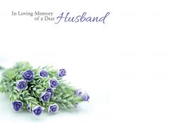 In Loving Memory of a Dear Husband - Wild Flowers Large Remembrance Card