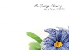 In Loving Memory of a Dear Uncle - Pansy Large Remembrance Card