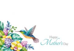 Happy Mothers Day - Hummingbird Classic Worded Card