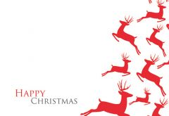 Happy Christmas - Reindeer Classic Worded Card