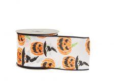 Halloween Pumpkin Ribbon (Wired)
