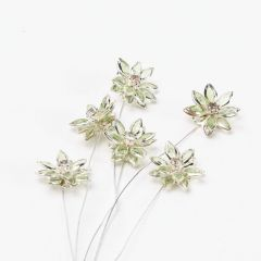 Flower Pick on wire