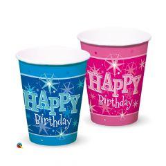 Blue Happy Birthday Cups