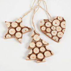 Natural Wooden Hanger Heart