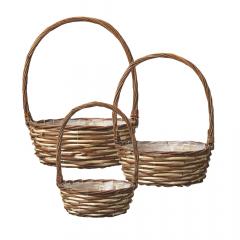 Lincoln Handled Lined Basket