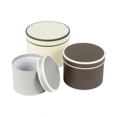 Couture Round Lined Hat Box Set